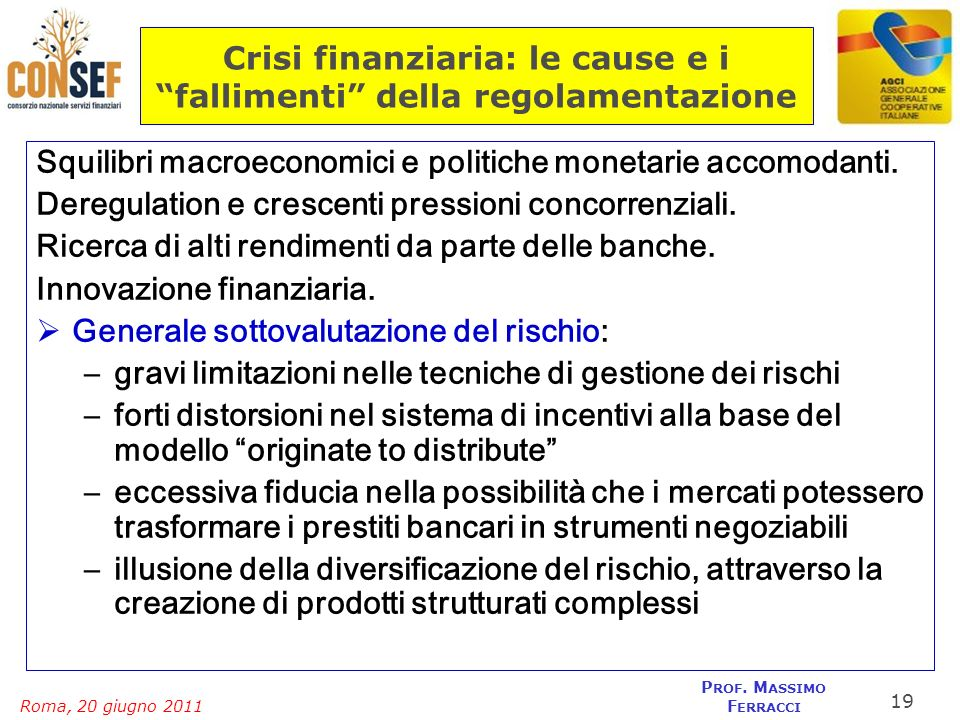 Crisi finanziaria: le cause e i fallimenti della regolamentazione