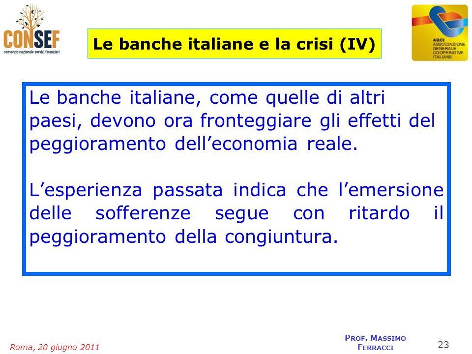 Le banche italiane e la crisi (IV)