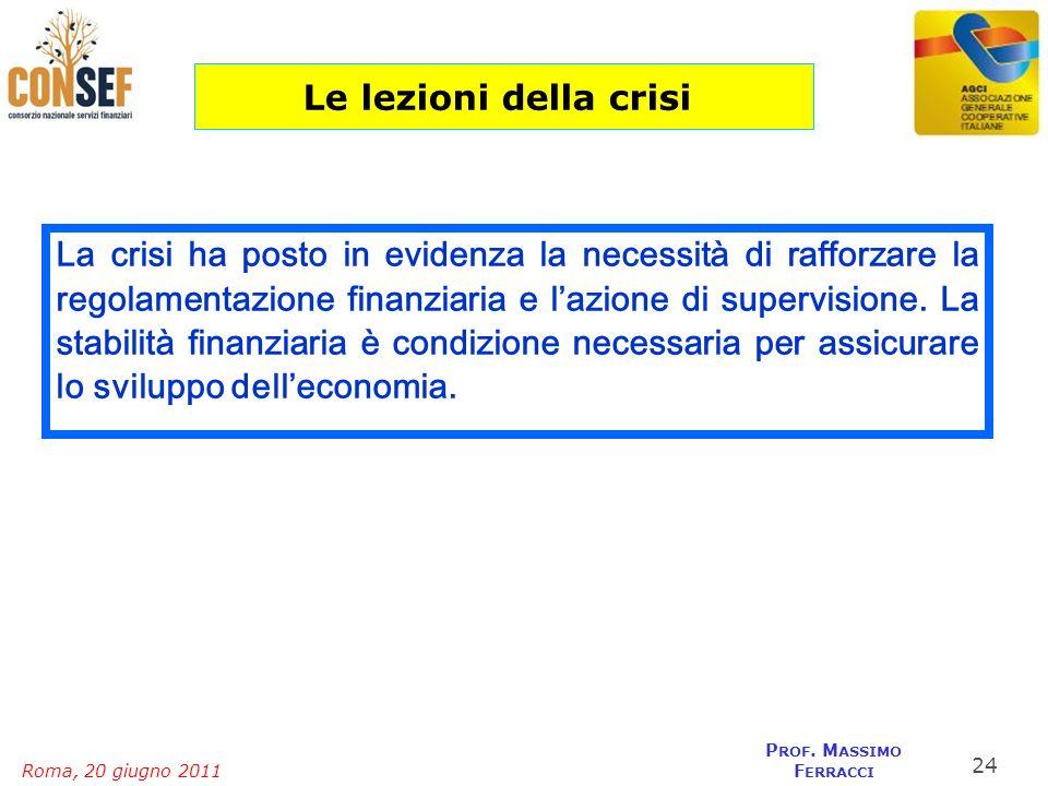 Le lezioni della crisi