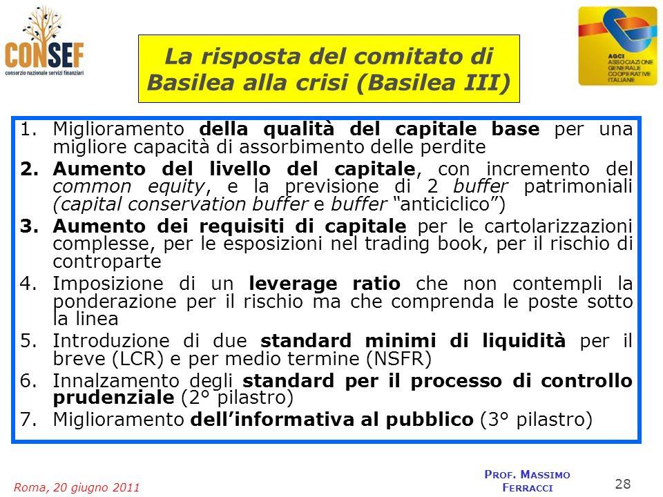 La risposta del comitato di Basilea alla crisi (Basilea III)