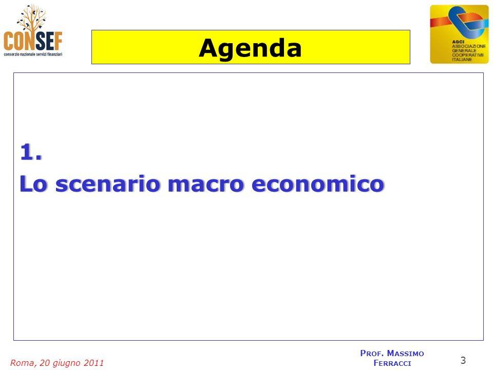 Agenda 1. Lo scenario macro economico