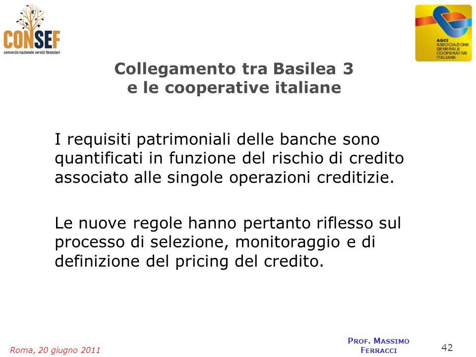Collegamento tra Basilea 3 e le cooperative italiane