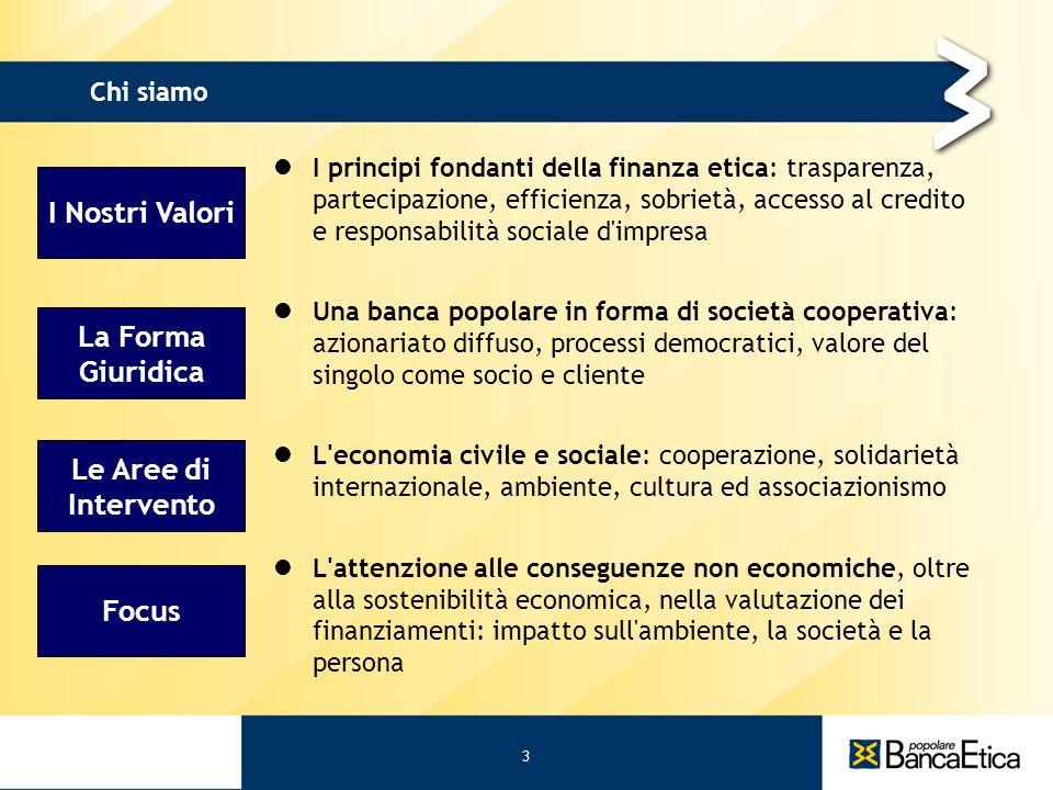 3 31/05/11 I Nostri Valori La Forma Giuridica Le Aree di Intervento