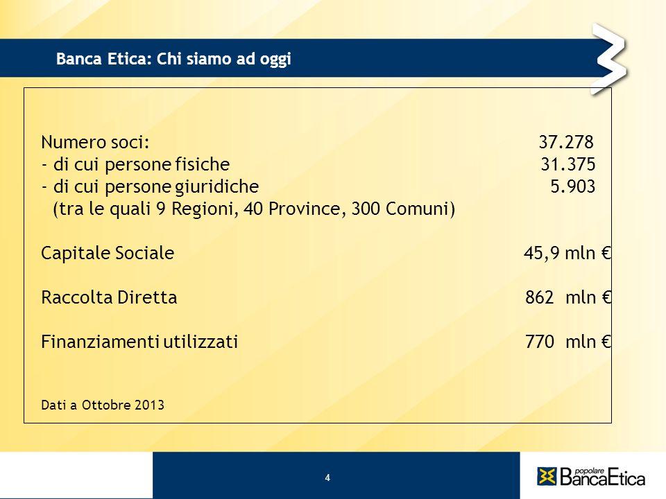 4 31/05/11 Numero soci: 37.278 - di cui persone fisiche 31.375