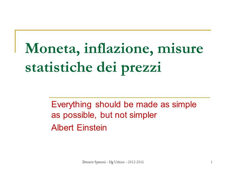 Moneta, inflazione, misure statistiche dei prezzi