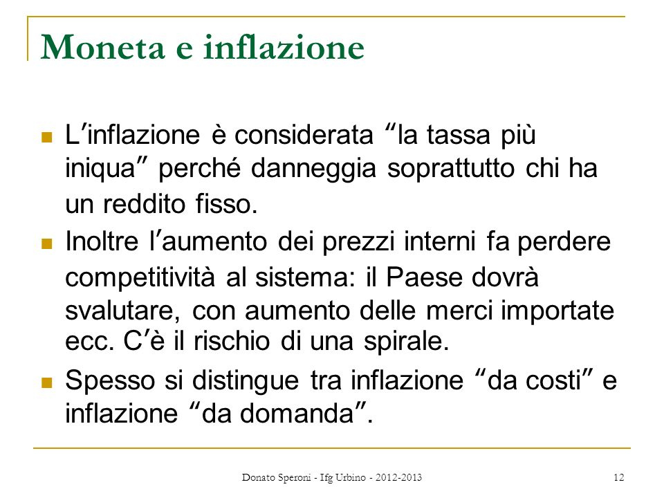 Donato Speroni - Ifg Urbino - 2012-2013