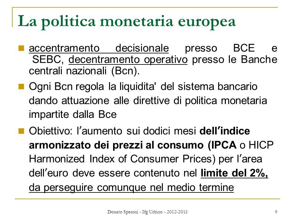 La politica monetaria europea