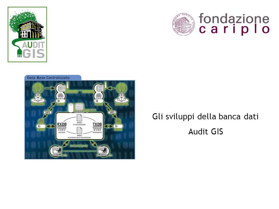 Gli sviluppi della banca dati Audit GIS