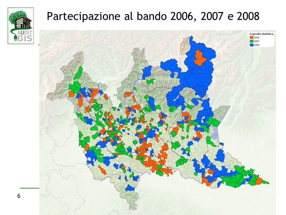 Partecipazione al bando 2006, 2007 e 2008