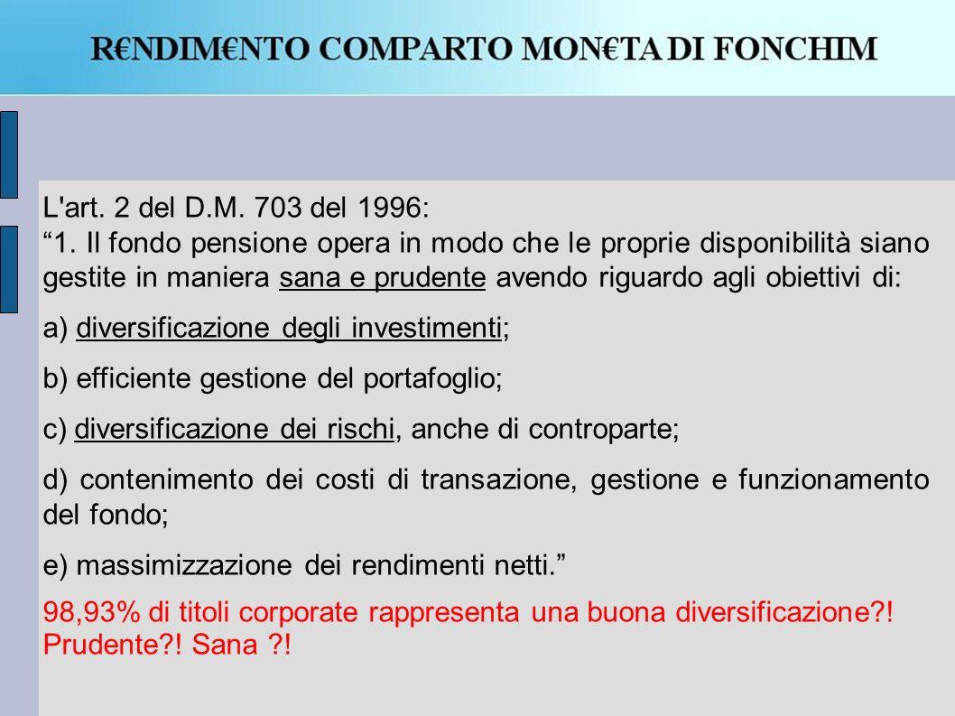 L art. 2 del D.M. 703 del 1996: