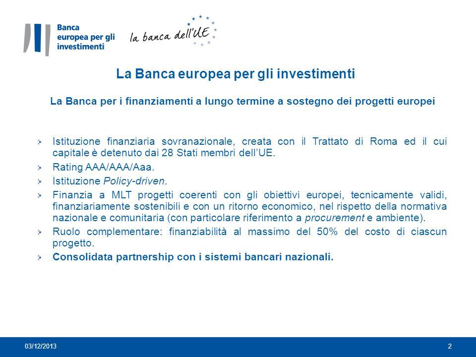La Banca europea per gli investimenti