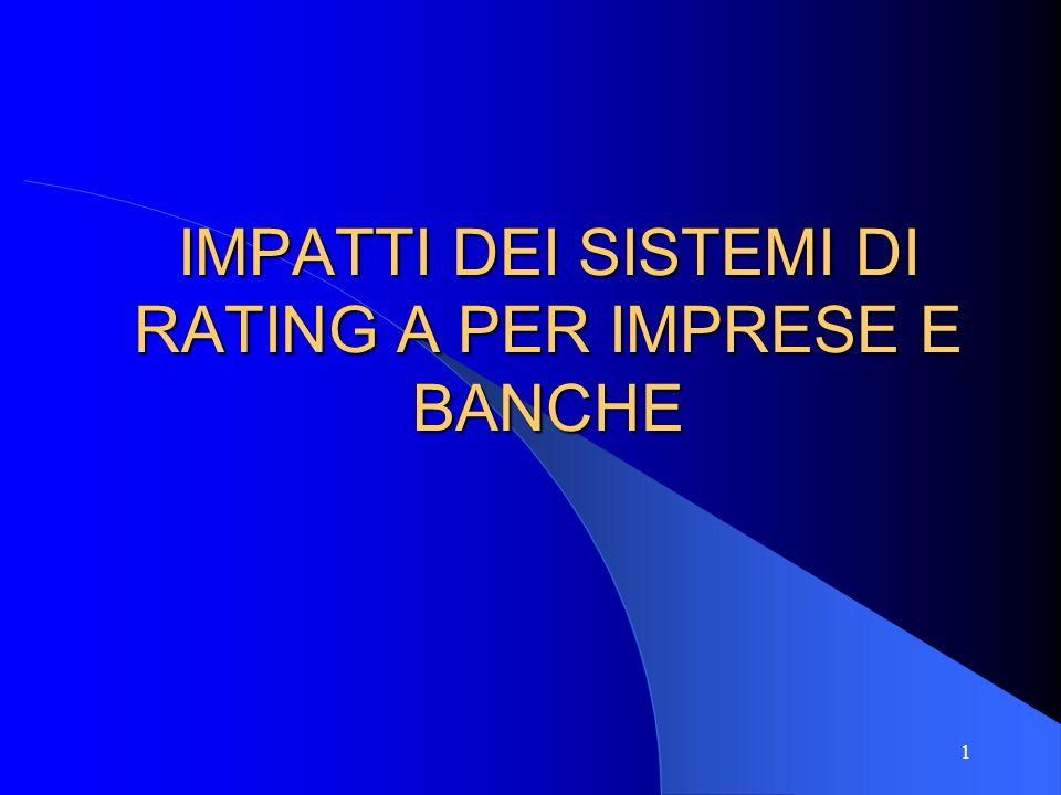 IMPATTI DEI SISTEMI DI RATING A PER IMPRESE E BANCHE