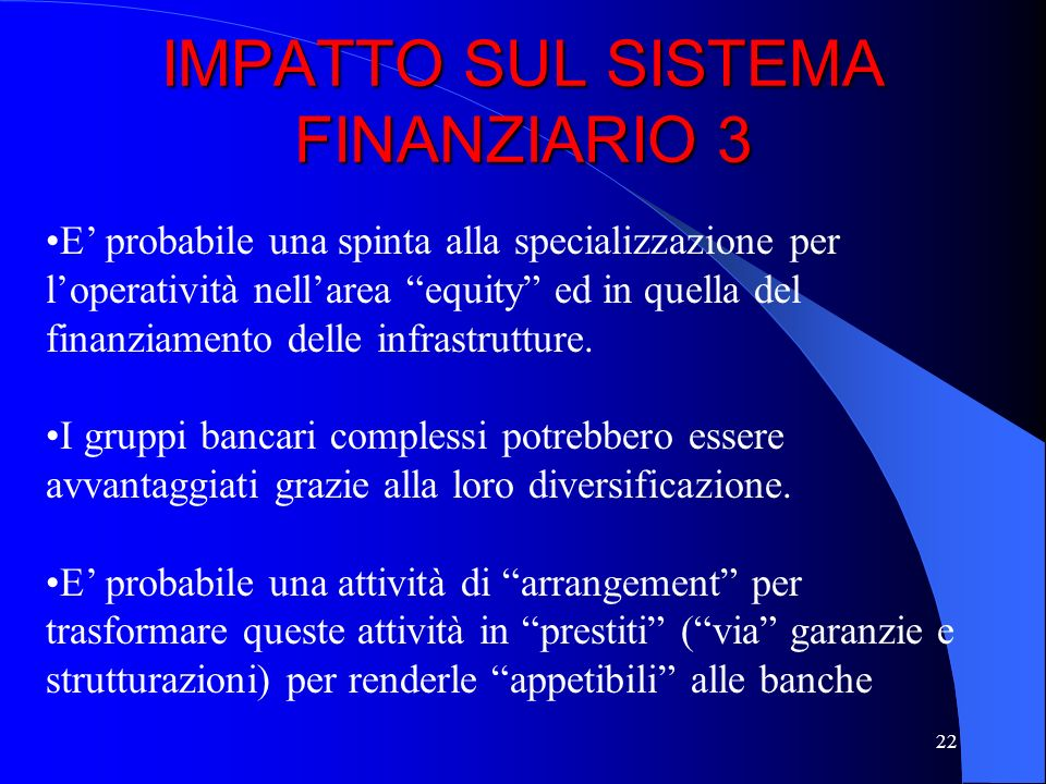 IMPATTO SUL SISTEMA FINANZIARIO 3