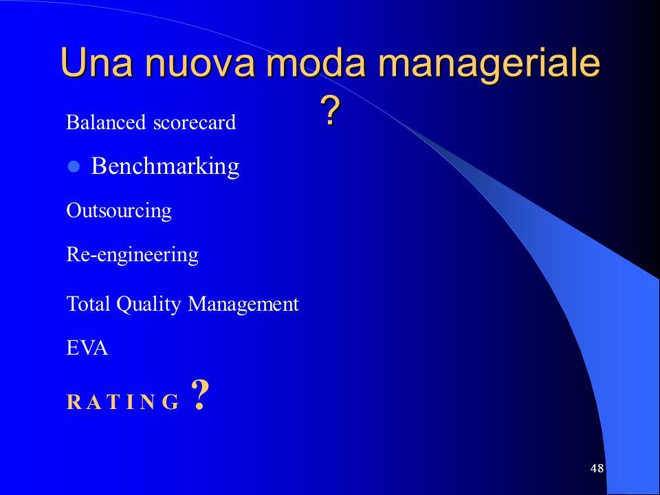 Una nuova moda manageriale