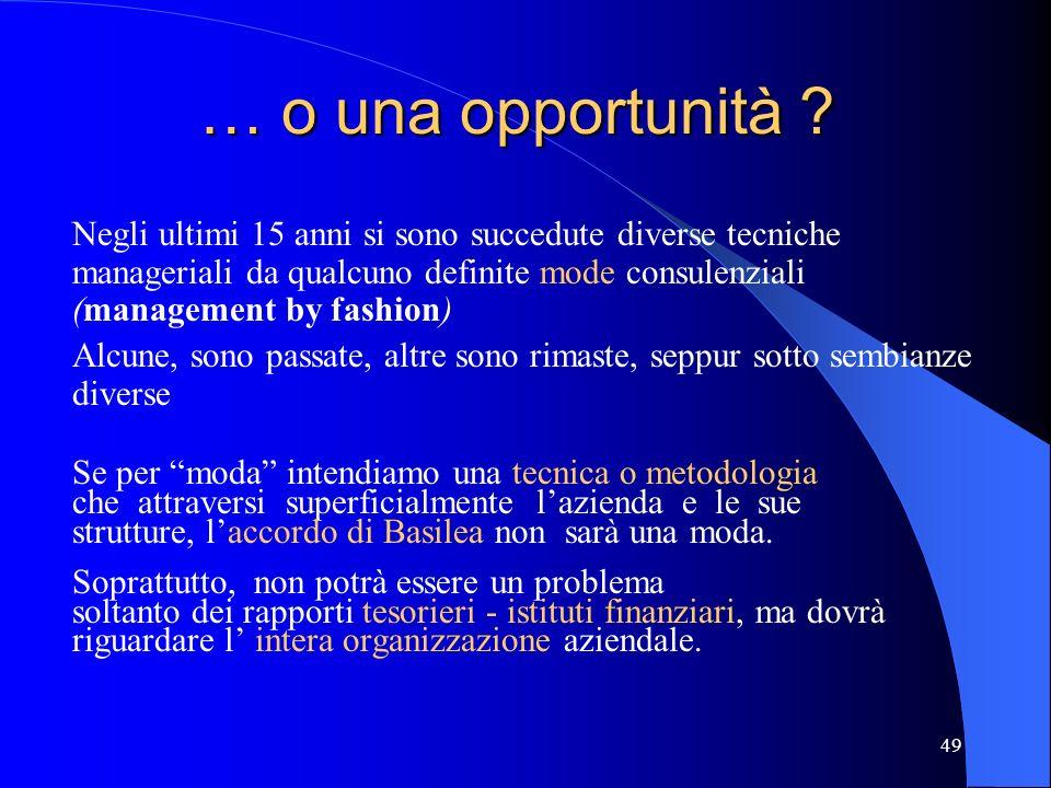 … o una opportunità