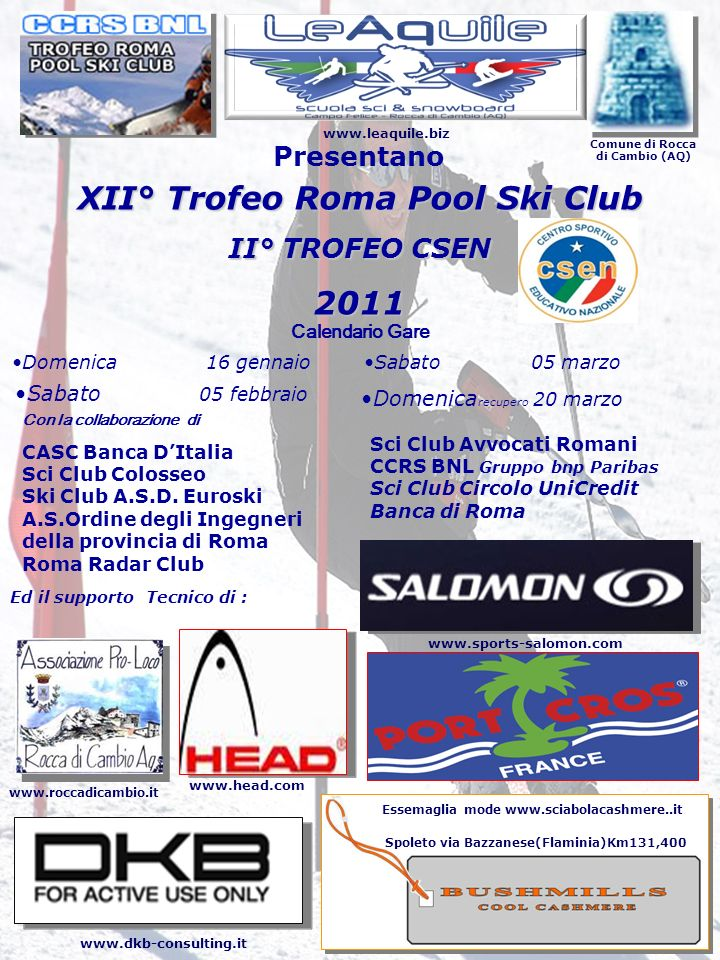 XII° Trofeo Roma Pool Ski Club 2011