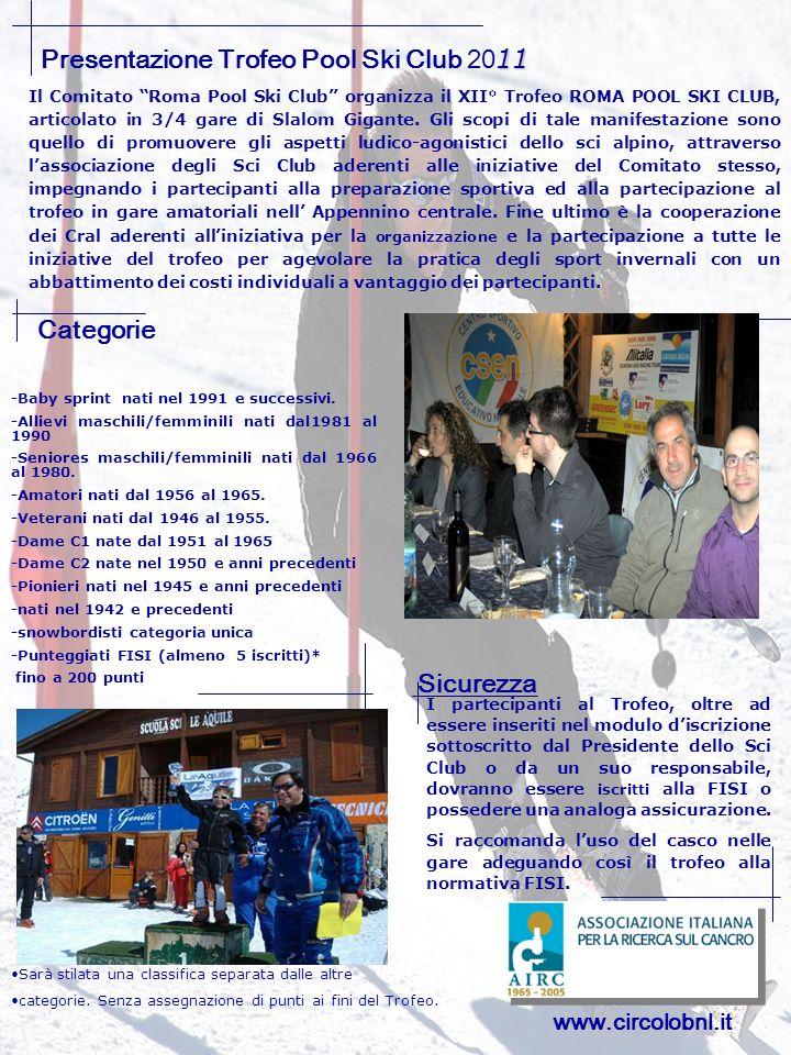 Presentazione Trofeo Pool Ski Club 2011