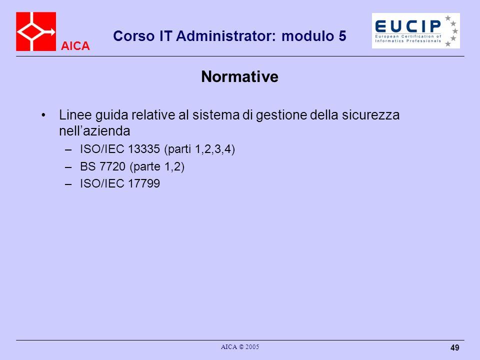 NormativeLinee guida relative al sistema di gestione della sicurezza nell'azienda. ISO/IEC 13335 (parti 1,2,3,4)