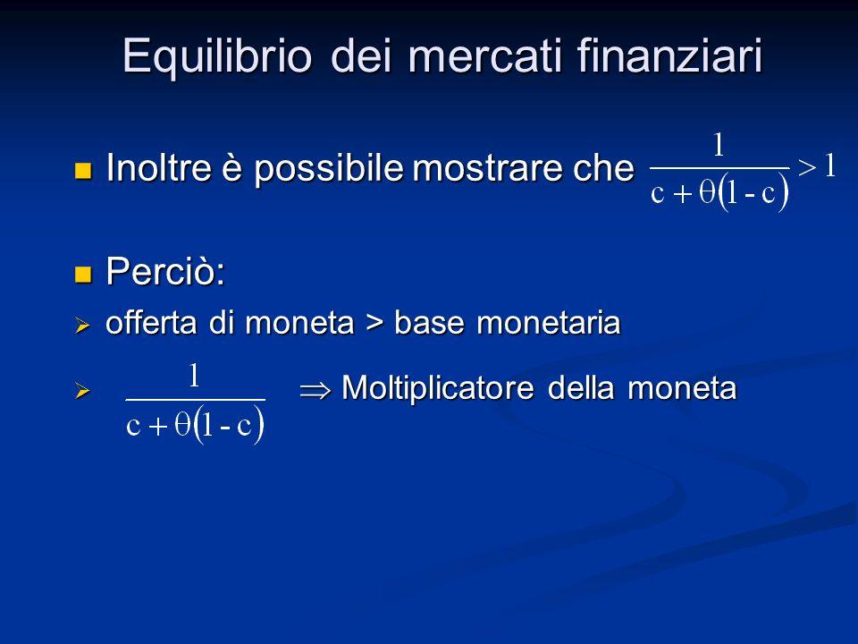 Equilibrio dei mercati finanziari
