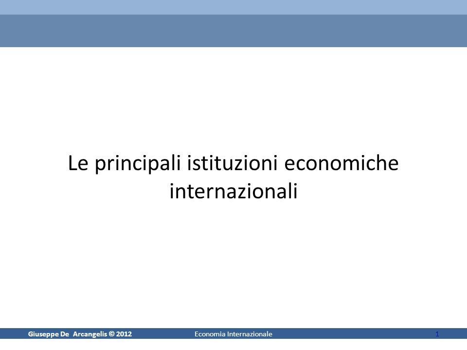 Le principali istituzioni economiche internazionali