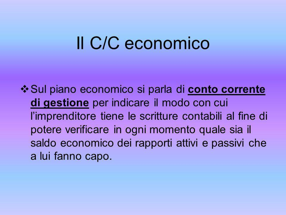 Il C/C economico