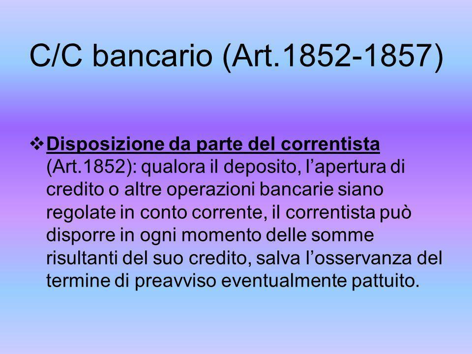 C/C bancario (Art.1852-1857)
