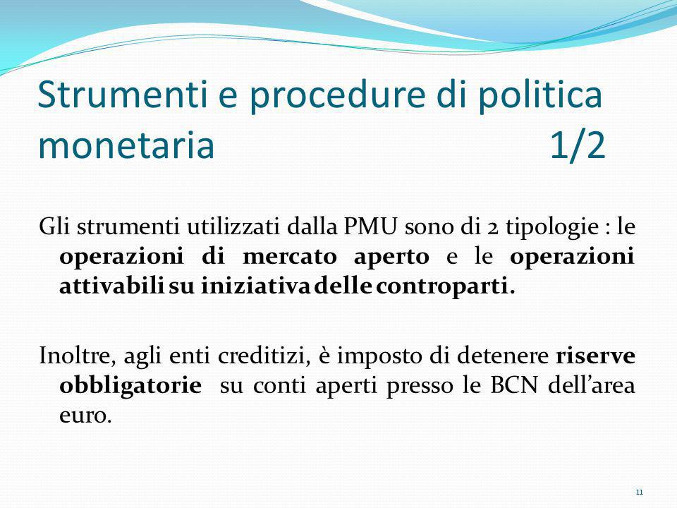 Strumenti e procedure di politica monetaria 1/2