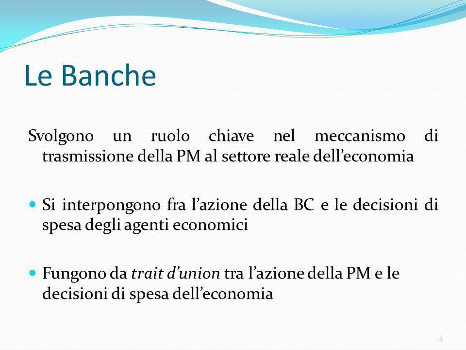 Le BancheSvolgono un ruolo chiave nel meccanismo di trasmissione della PM al settore reale dell'economia.