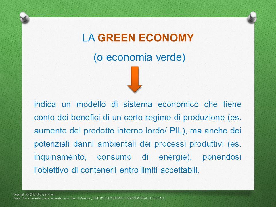 LA GREEN ECONOMY (o economia verde)