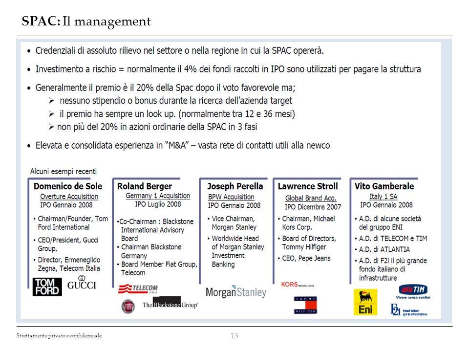 SPAC: Il management