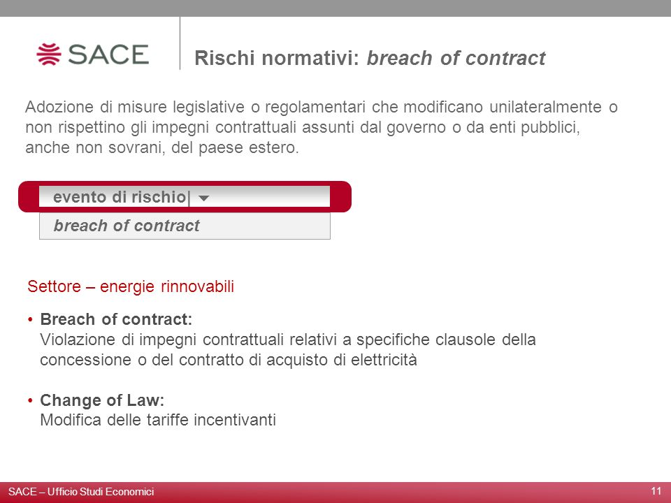 Rischi normativi: breach of contract