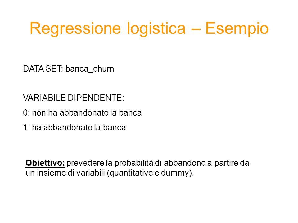 Regressione logistica – Esempio
