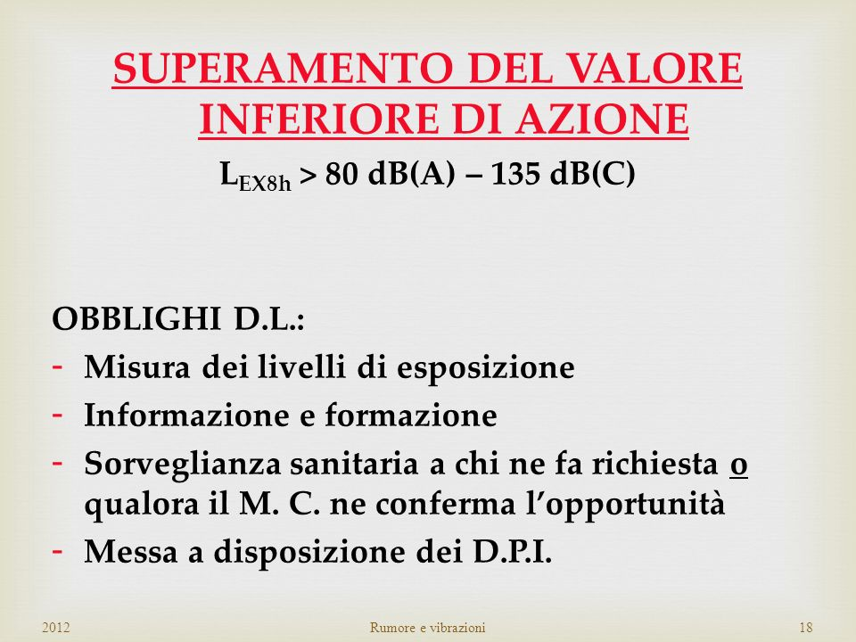 SUPERAMENTO DEL VALORE INFERIORE DI AZIONE