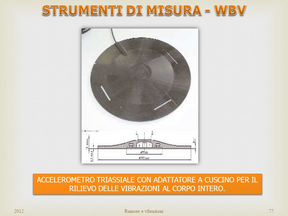 STRUMENTI DI MISURA - WBV