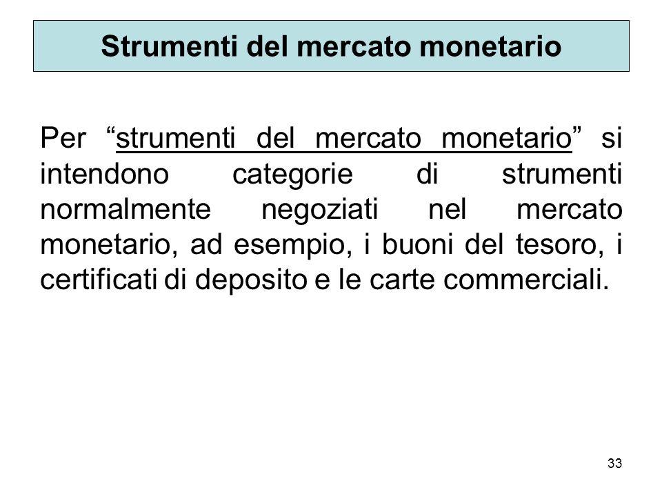 Strumenti del mercato monetario