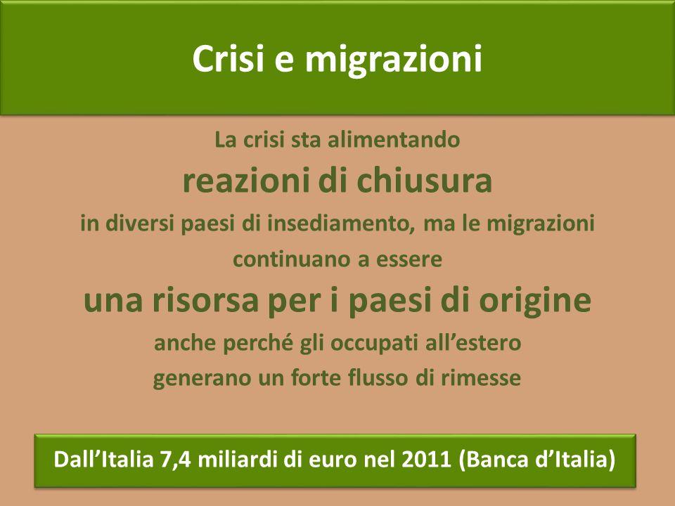 Crisi e migrazioni reazioni di chiusura