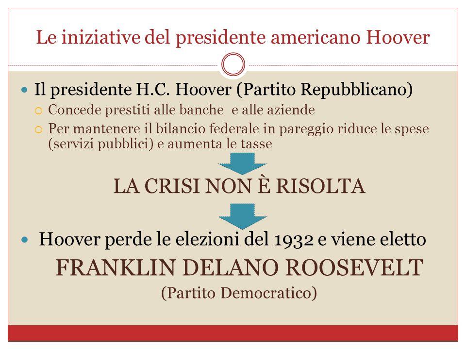 Le iniziative del presidente americano Hoover