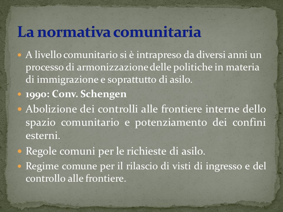 La normativa comunitaria