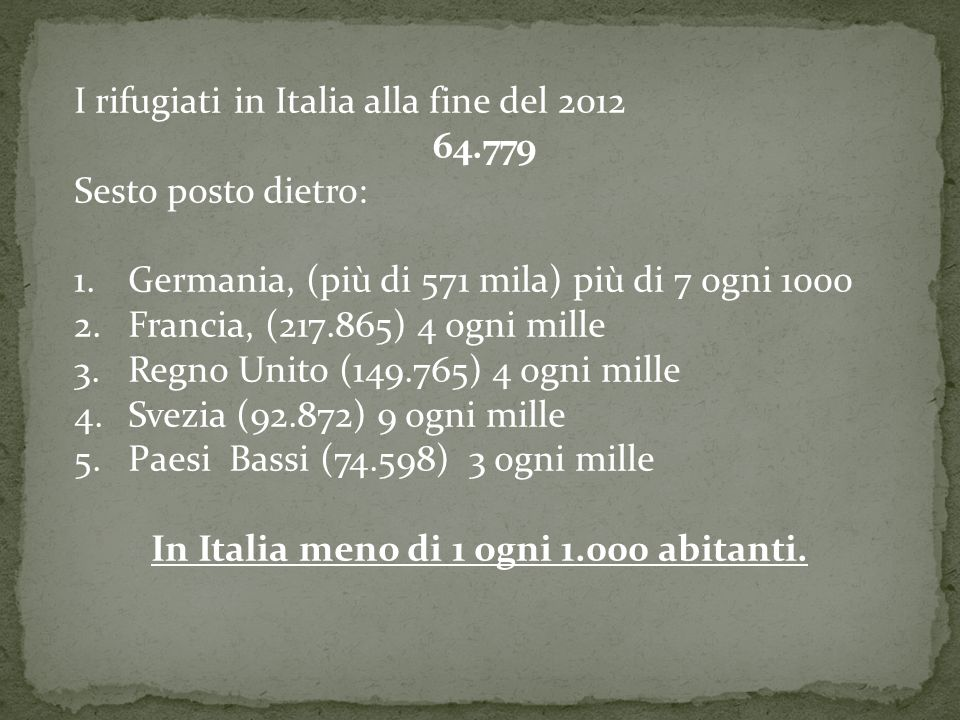 In Italia meno di 1 ogni 1.000 abitanti.