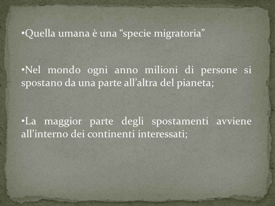 Quella umana è una specie migratoria