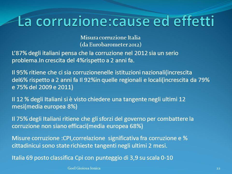 La corruzione:cause ed effetti