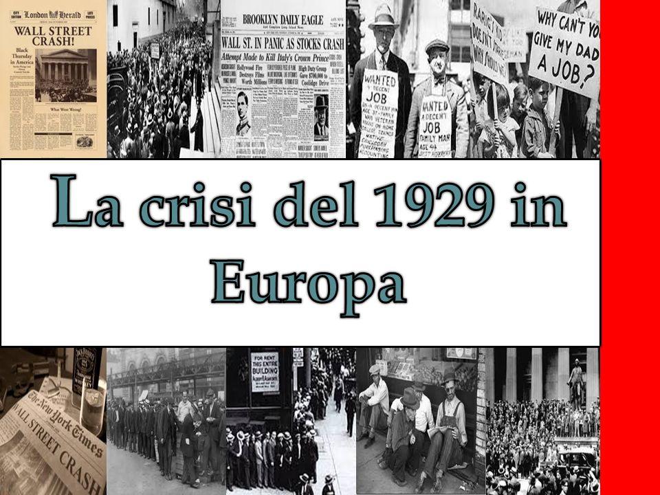 La crisi del 1929 in Europa