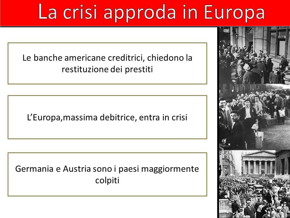 La crisi approda in Europa