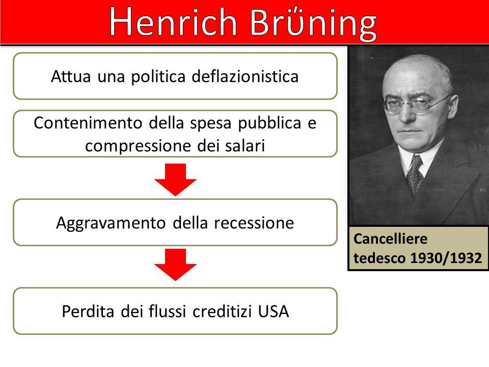 Henrich Brΰning Attua una politica deflazionistica