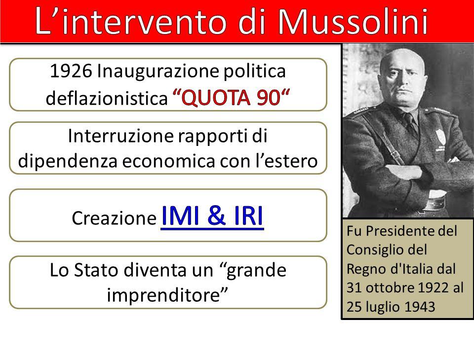 L'intervento di Mussolini