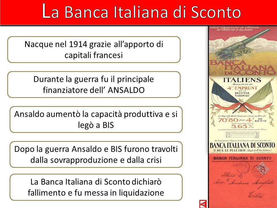 La Banca Italiana di Sconto