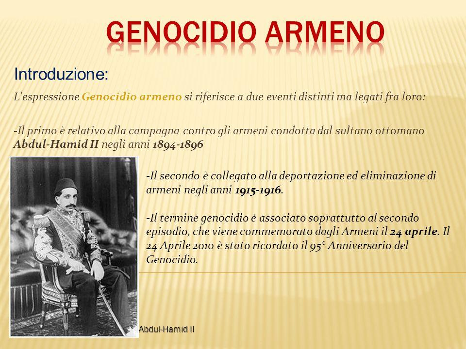 Genocidio armeno Introduzione: