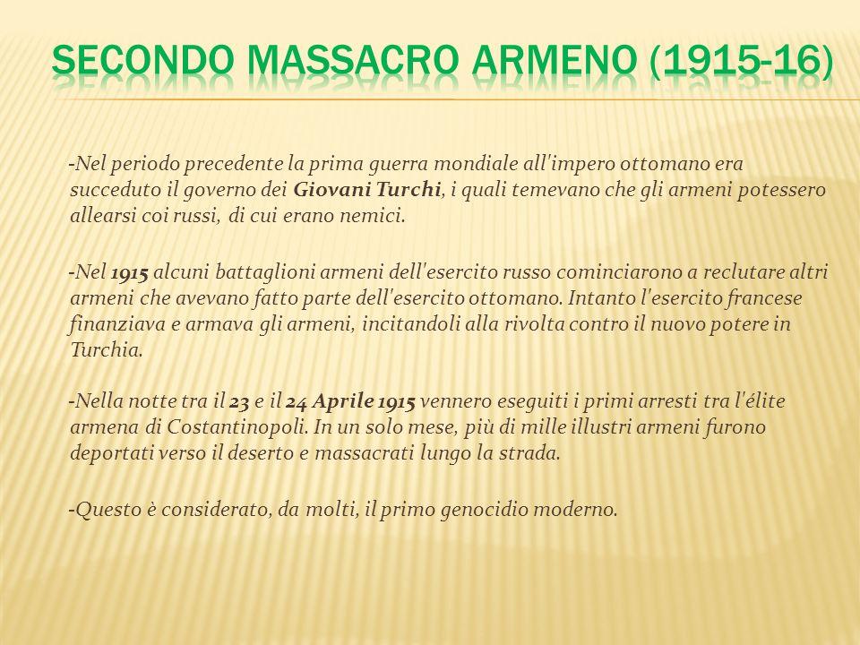SECONDO MASSACRO Armeno (1915-16)