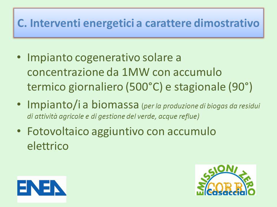 C. Interventi energetici a carattere dimostrativo