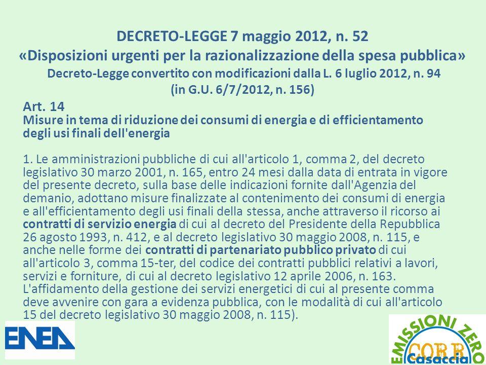DECRETO-LEGGE 7 maggio 2012, n